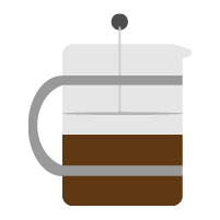 Cafetiere illustration