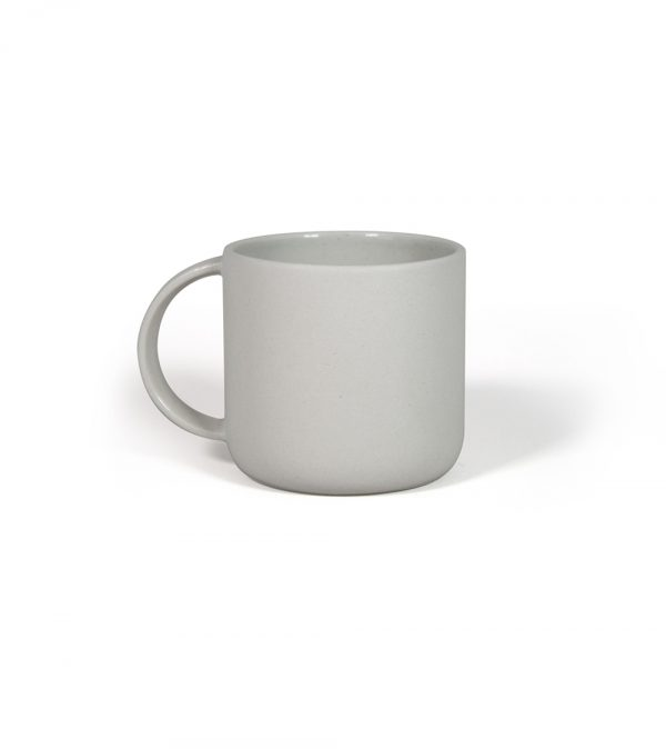 Ceramic coffee cup grey